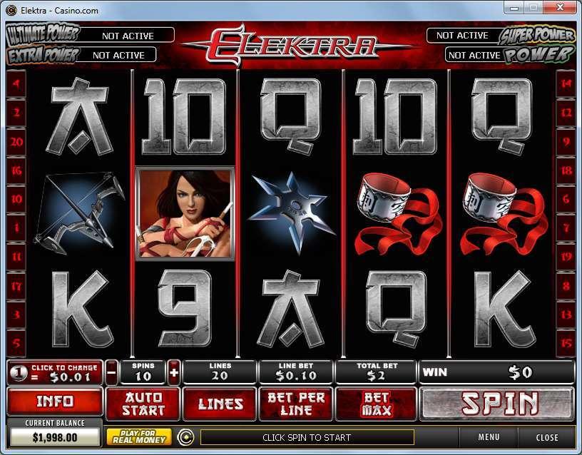 สล็อต Elektra Marvel